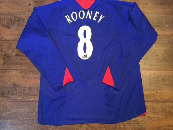 2005 2006 Manchester United L/s Away Football Shirt Rooney Adults XL